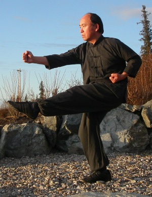 Photo of Master Wong demonstrating Long Fist